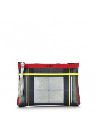 WOMEN'S BAGS WRISTLET BAG TARTAN SILVER RED YELLOW GREEN GUM CHIARINI