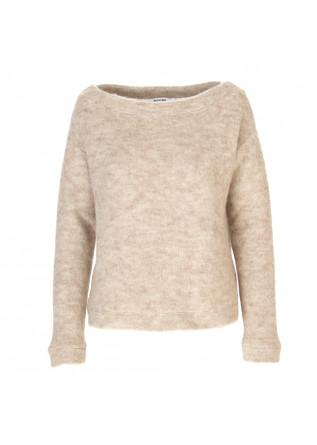 WOMEN'S CLOTHING SWEATER REGENERATED WOOL MIX BEIGE MELANGE BIONEUMA
