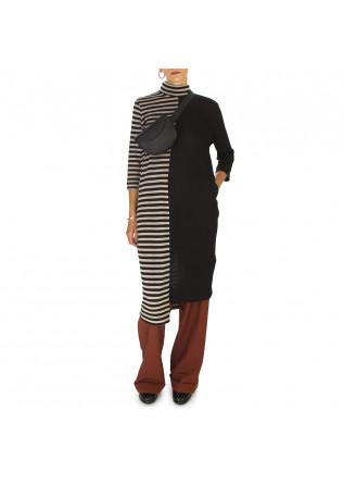 WOMEN'S CLOTHING DRESS WOOL BLACK / BEIGE BIONEUMA