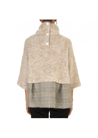 WOMEN'S CLOTHING SWEATER BEIGE / PRINCE OF WALES BIONEUMA