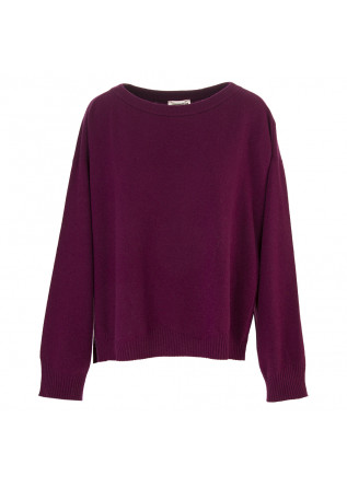 WOMEN'S CLOTHING SWEATER WOOL / CASHMERE DARK PURPLE SEMICOUTURE