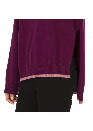 WOMEN'S CLOTHING SWEATER WOOL / CASHMERE DARK PURPLE SEMICOUTURE