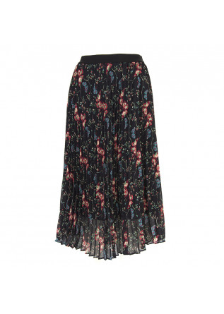 WOMEN'S CLOTHING SKIRT PLEATED BLACK / MULTICOLOR BLACK SEMICOUTURE