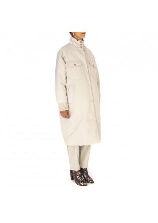WOMEN'S CLOTHING LONG JACKET ANIMAL FRIENDLY BEIGE / MULTICOLOR OOF