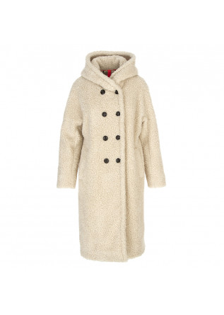 WOMEN'S CLOTHING DOUBLE BREASTED COAT BEIGE DISTRETTO 12