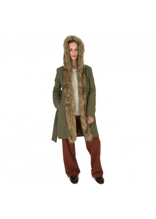WOMEN'S CLOTHING PARKA JACKET MILITARY GREEN / EMBROIDERY MENU DU JOUR