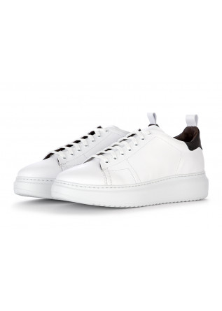 MEN'S SHOES SNEAKERS LEATHER UPPER WHITE / BLACK MANOVIA 52