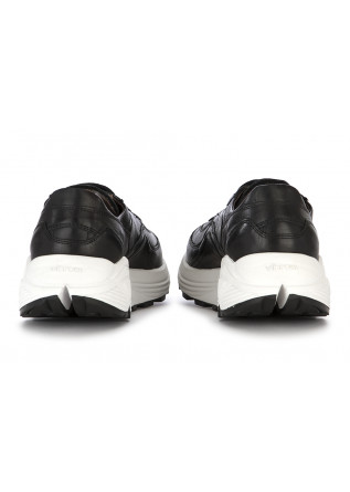 MEN'S SHOES SNEAKERS HANDMADE IN ITALY LEATHER BLACK MANOVIA 52