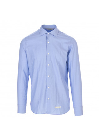 MEN'S CLOTHING SHIRT BIO COTTON LIGHT BLUE TINTORIA MATTEI 954