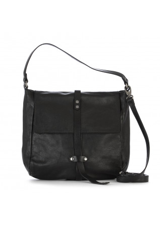 WOMEN'S BAGS SHOULDER BAG LEATHER GARMENT DYED BLACK REHARD