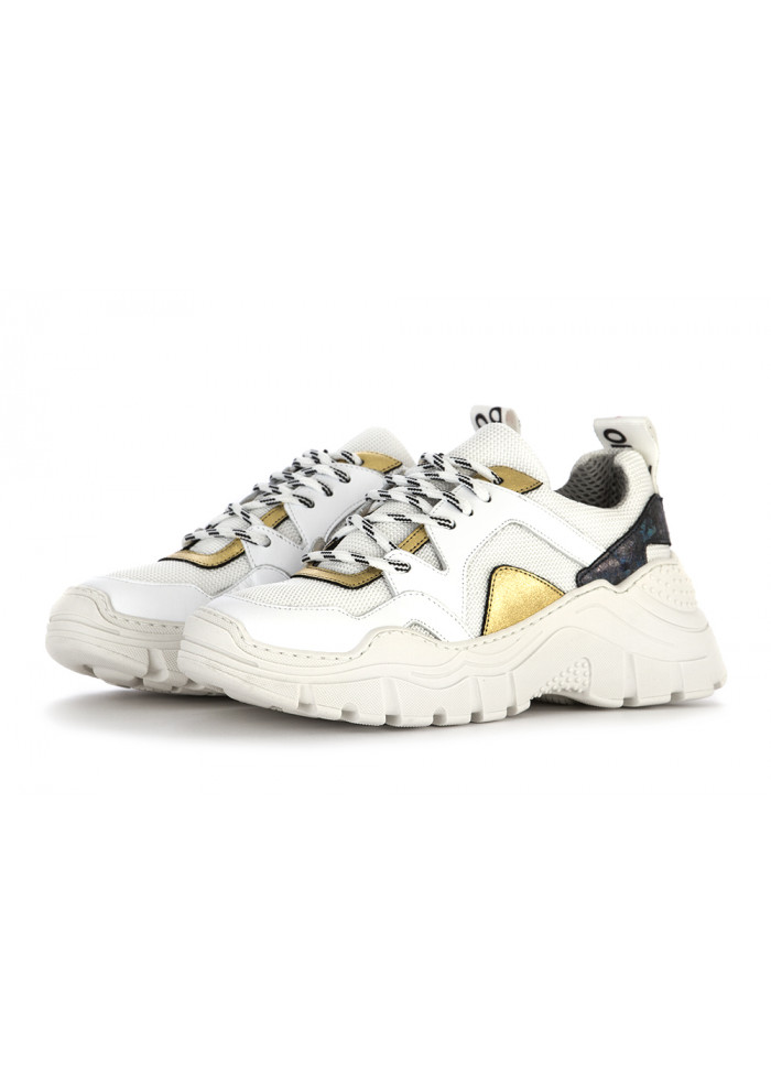 white and gold shoes