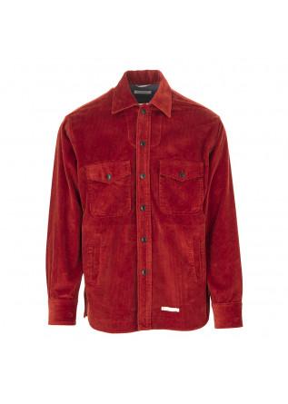 MEN'S CLOTHING SHIRT BRICK RED VELVET COTTON TINTORIA MATTEI 954