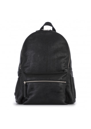 MEN'S ACCESSORIES BACKPACK LEATHER MADE IN ITALY BLACK ORCIANI