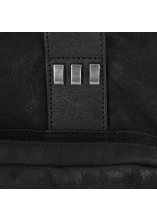 WOMEN'S BAGS HANDBAG GARMENT DYED LEATHER BLACK REHARD