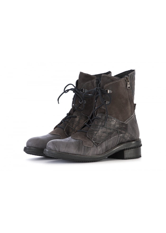 WOMEN'S SHOES ANKLE LACE UP BOOTS GREY