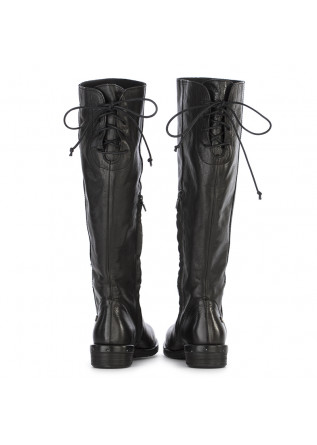WOMEN'S SHOES HIGH BOOTS LEATHER BLACK REPKO