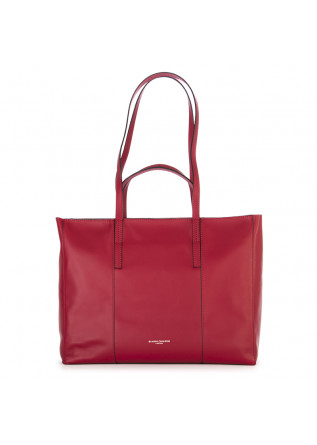 WOMEN'S BAGS SHOPPER BAG NAPPA LEATHER RED GIANNI CHIARINI