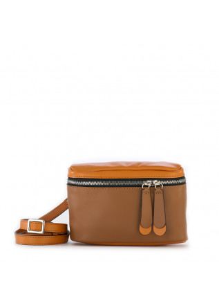 DAMENTASCHEN GÜRTELTASCHE / CROSS-BODY BRAUN / ORANGE GIANNI CHIARINI