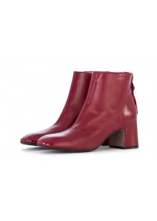 WOMEN'S SHOES ANKLE BOOTS NAPPA LEATHER RED MARA BINI