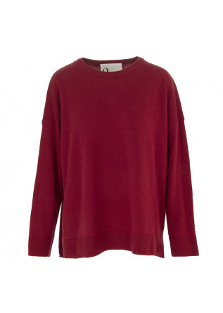 WOMEN'S CLOTHING JERSEY SWEATER VISCOSA CASHMERE ANGORA BORDEAUX 8PM