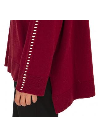 WOMEN'S CLOTHING JERSEY SWEATER VISCOSA CASHMERE ANGORA BORDEAUX 8PM