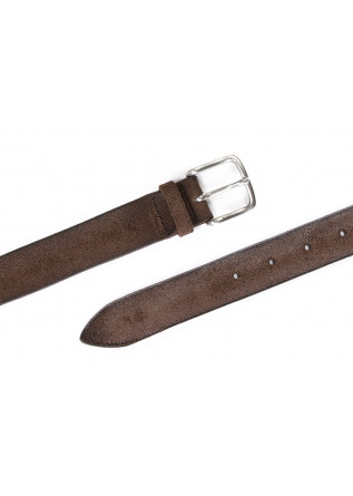 MEN'S ACCESSORIES BELT GENUINE LEATHER DARK BROWN ORCIANI