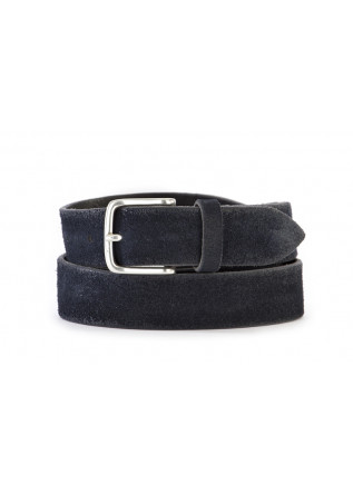 MEN'S ACCESSORIES BELT GENUINE LEATHER DARK BLUE ORCIANI