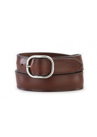 MEN'S ACCESSORIES BELT LEATHER BURNT BROWN ORCIANI