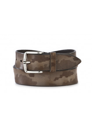 MEN'S ACCESSORIES BELT CAMOUFLAGE GREY BROWN ORCIANI