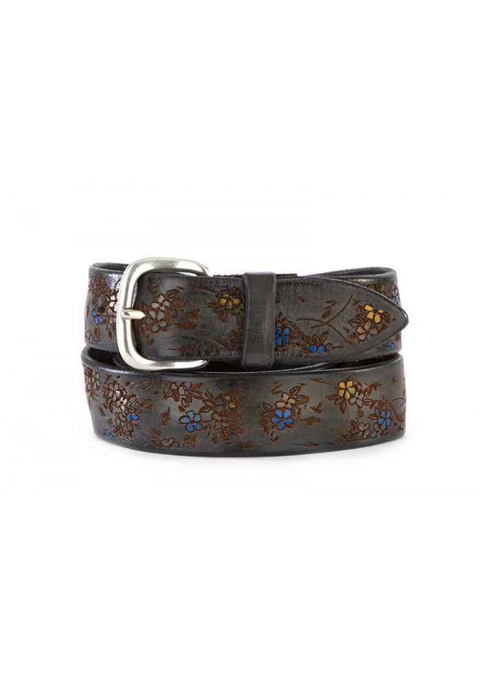 MEN'S ACCESSORIES BELT GENUINE LEATHER HAND PAINTED MULTICOLOR ORCIANI