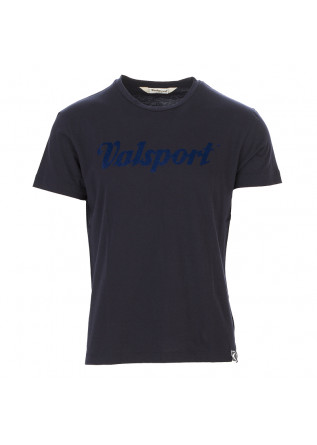 MEN'S CLOTHING T-SHIRT COTTON JERSEY WITH LOGO DARK BLUE VALSPORT