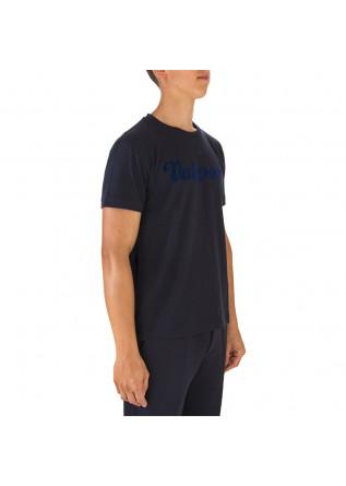 MEN'S CLOTHING T-SHIRT COTTON JERSEY WITH LOGO DARK BLUE VALSPORT