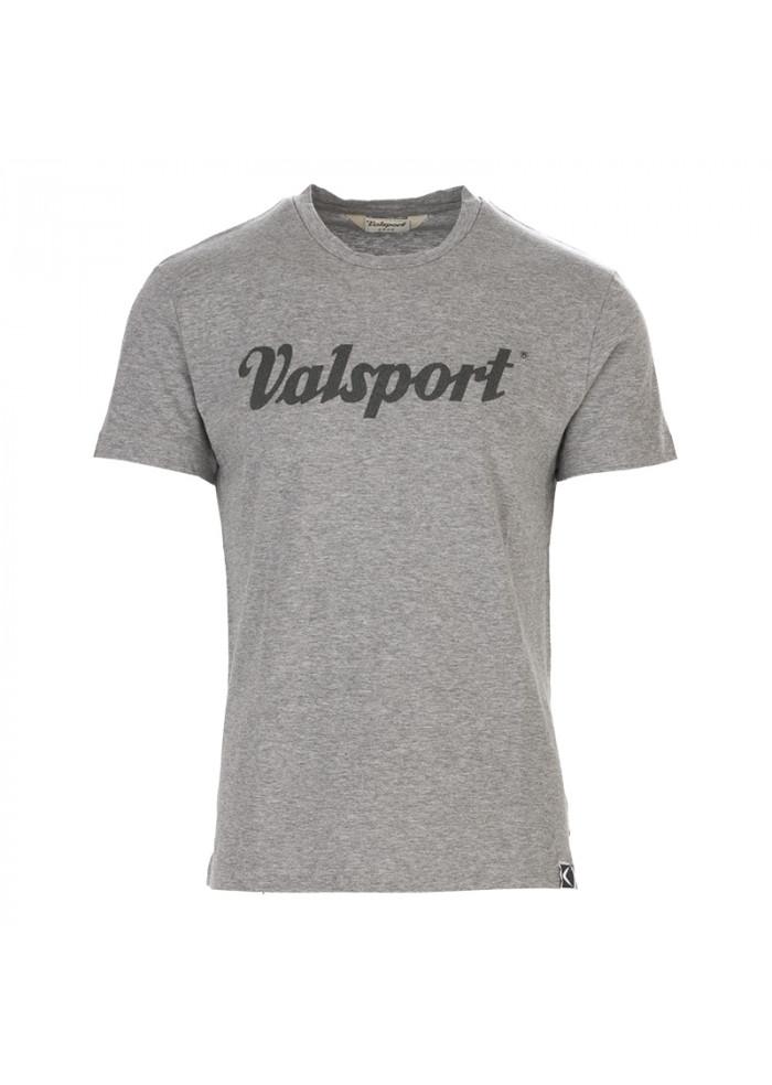 MEN'S CLOTHING T-SHIRT COTTON WITH LOGO GREY VALSPORT