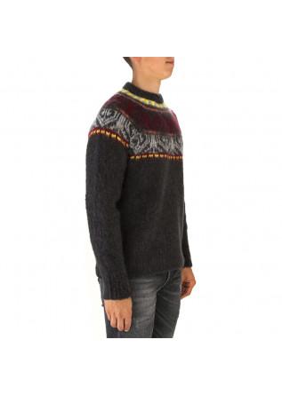 MEN'S CLOTHING SWEATER WOOL MIX GREY YELLOW BORDEAUX ROBERTO COLLINA