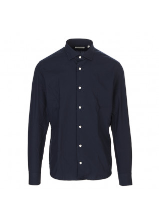 MEN'S CLOTHING SHIRT LIGHT COTTON DARK BLUE MASTRICAMICIAI