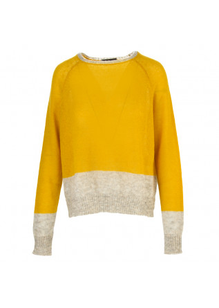 WOMEN'S CLOTHING SWEATER BABY ALPACA MOHAIR YELLOW PHISIQUE DU ROLE