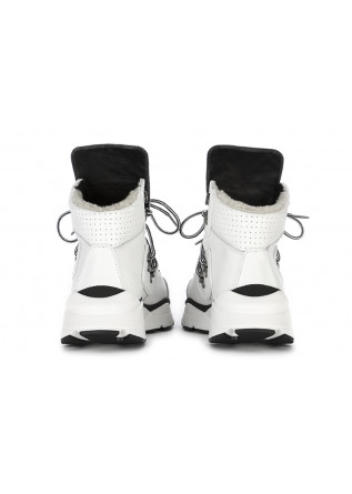 WOMEN'S SHOES MOUNTAIN BOOTS LEATHER WHITE BLACK TIFFI
