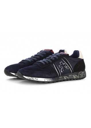 MEN'S SHOES SNEAKERS SUEDE / NYLON BORDEAUX BLUE PREMIATA