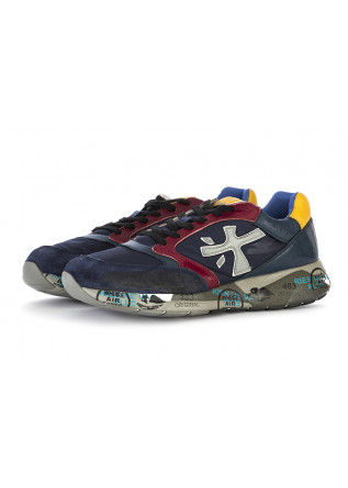 MEN'S SHOES SNEAKERS LEATHER / NYLON BLUE BORDEAUX YELLOW PREMIATA
