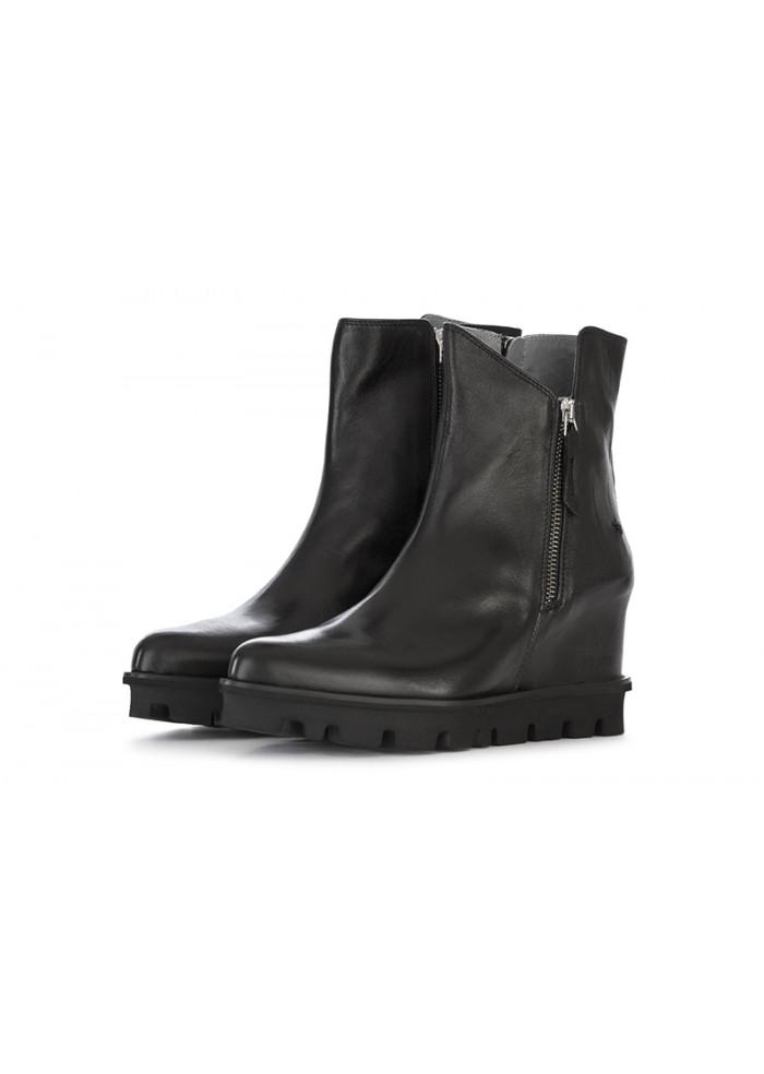 economico per lo sconto e70ff 9d10d women's shoes ankle boots wedges leather black patrizia bonfanti