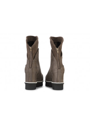 WOMEN'S SHOES ANKLE BOOTS / WEDGES NUBUCK BROWN PATRIZIA BONFANTI