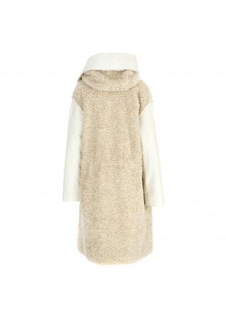 WOMEN'S CLOTHING COAT ECO LEATHER / ECO SHEEP BEIGE PHISIQUE DU ROLE