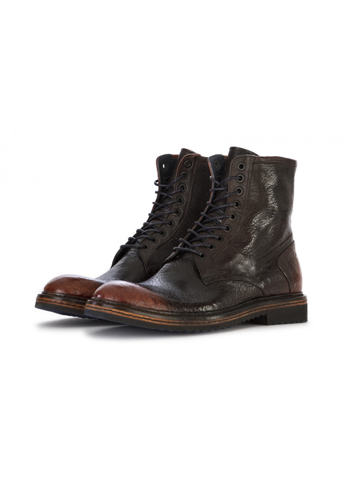 MEN'S SHOES LACE UP ANKLE LEATHER BOOTS