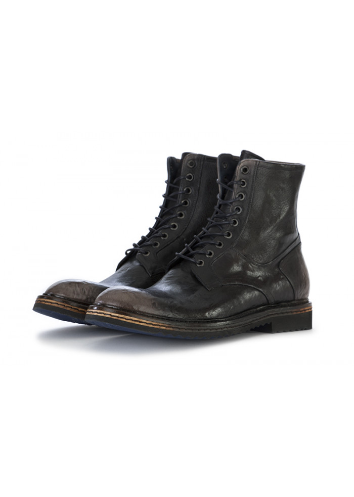 MEN'S SHOES LACE UP ANKLE BOOTS LEATHER