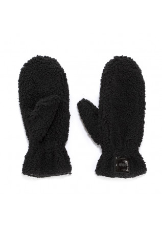 WOMEN'S ACCESSORIES REVERSIBLE GLOVES ECO FUR / ECO LEATHER BLACK OOF