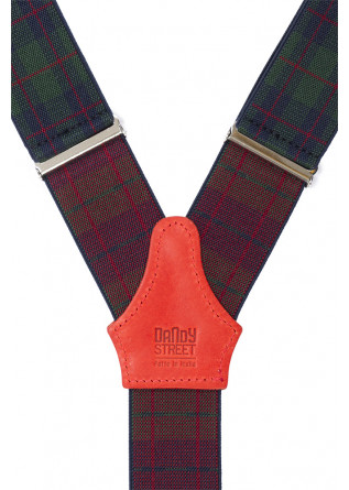 MEN'S ACCESSORIES SUSPENDERS TARTAN BLUE / GREEN DANDY STREET