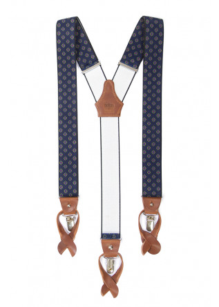 MEN'S ACCESSORIES SUSPENDERS BLUE / GEOMETRIC DANDY STREET