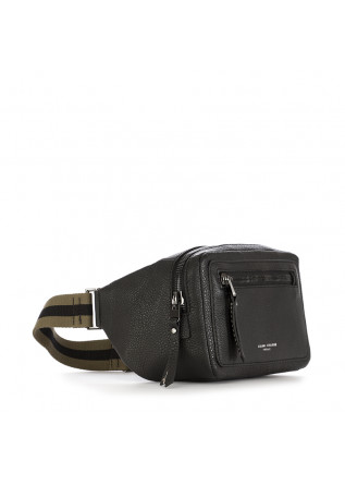 MEN'S BAGS BELT BAG MADE IN ITALY BLACK / KHAKI BELT GIANNI CHIARINI