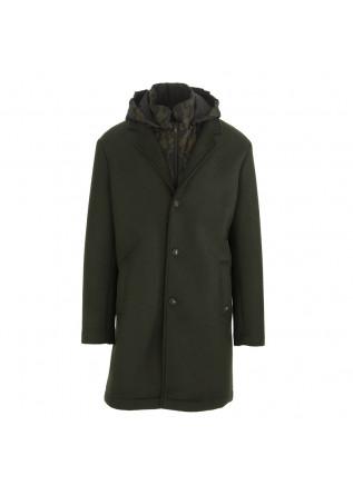 MEN'S CLOTHING COAT + VEST IN WOOL JERSEY DARK GREEN MASON'S