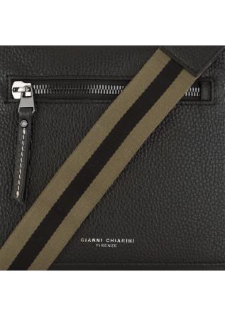 MEN'S BAGS CROSSBODY BAG LEATHER BLACK / KHAKI GIANNI CHIARINI